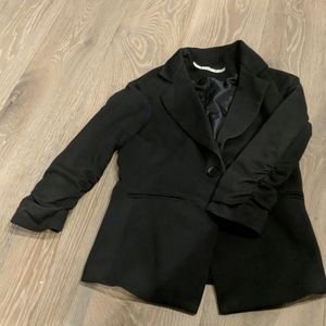 Gibson rouched sleeve Blazer